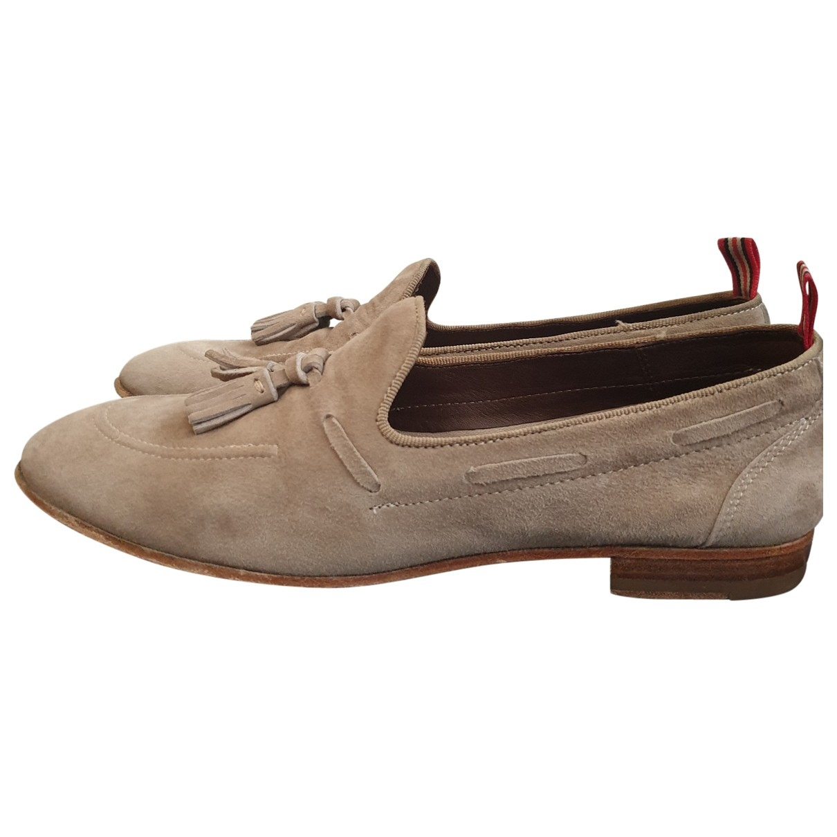 Non Signé / Unsigned \N Beige Suede Flats for Women 38 EU