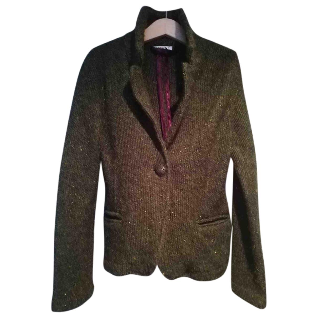 Bark - Blousons.Manteaux   pour enfant en laine - vert