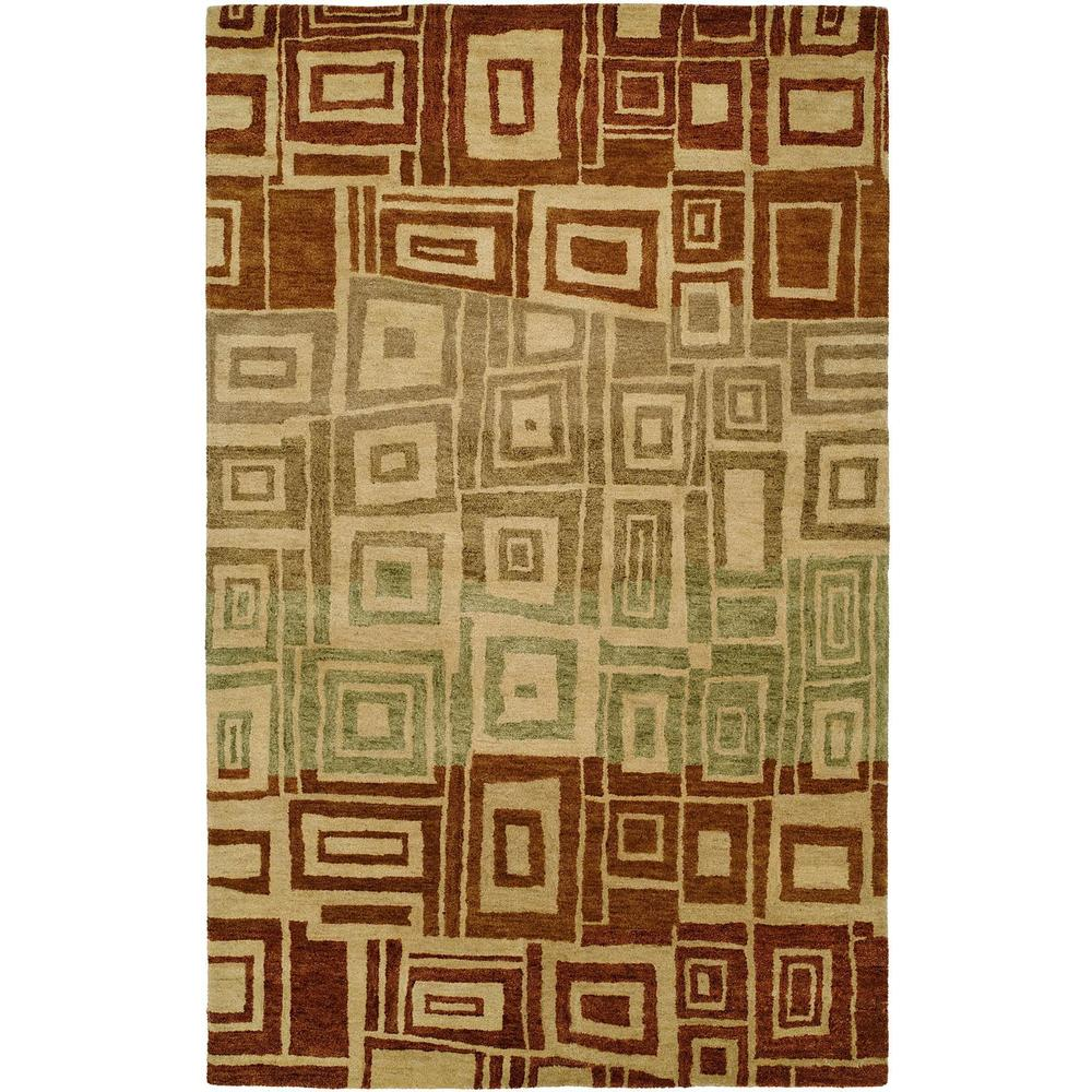 Vista Multi Red/Ombre Hand-tufted Area Rug (Red/Ombre 8' x 11')