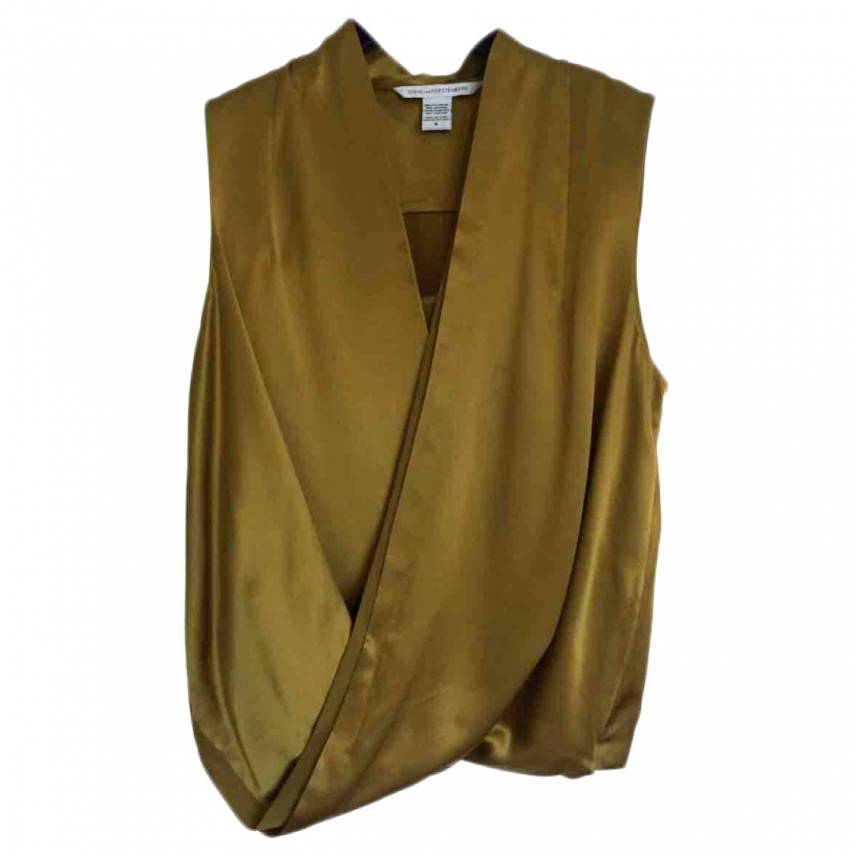 Diane Von Furstenberg \N Gold Silk  top for Women 8 US