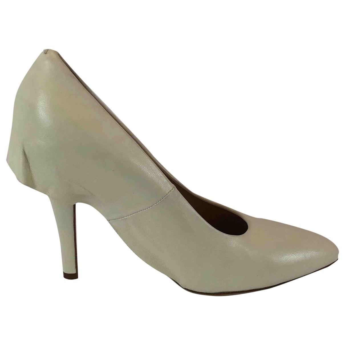 Maison Martin Margiela \N White Leather Heels for Women 39.5 EU