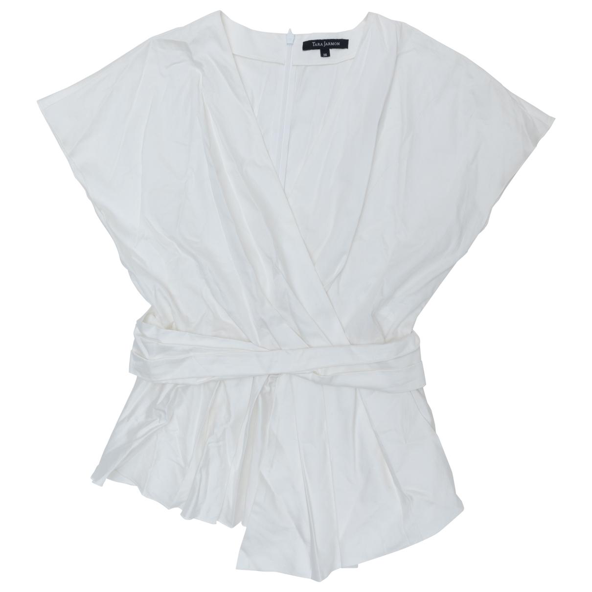 Tara Jarmon \N White Cotton  top for Women 36 FR