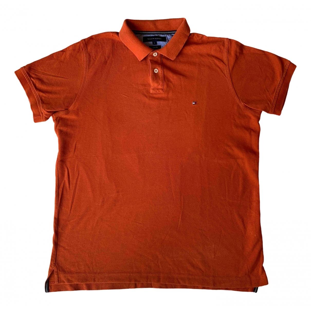 Tommy Hilfiger \N Poloshirts in  Orange Baumwolle