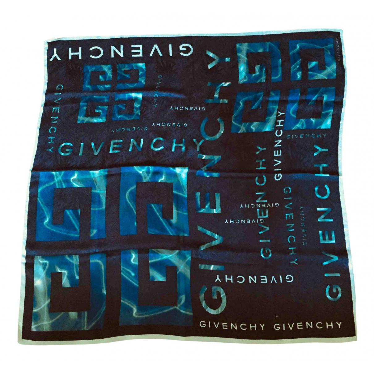 Givenchy - Carre   pour femme en soie - bleu