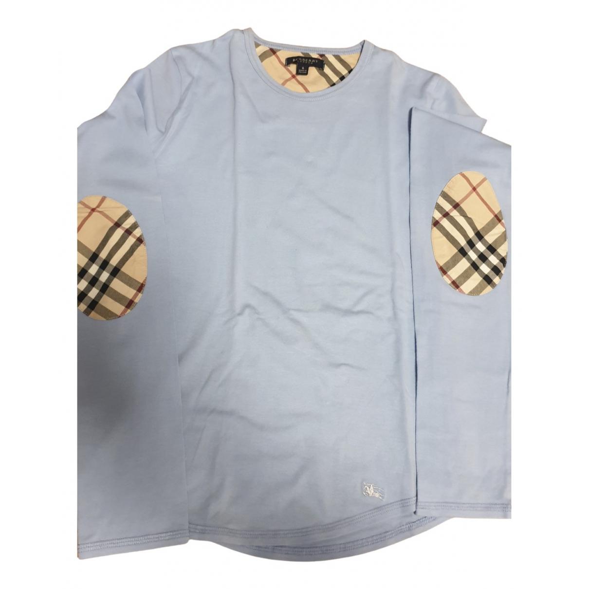 Burberry - Pull   pour femme en coton - turquoise