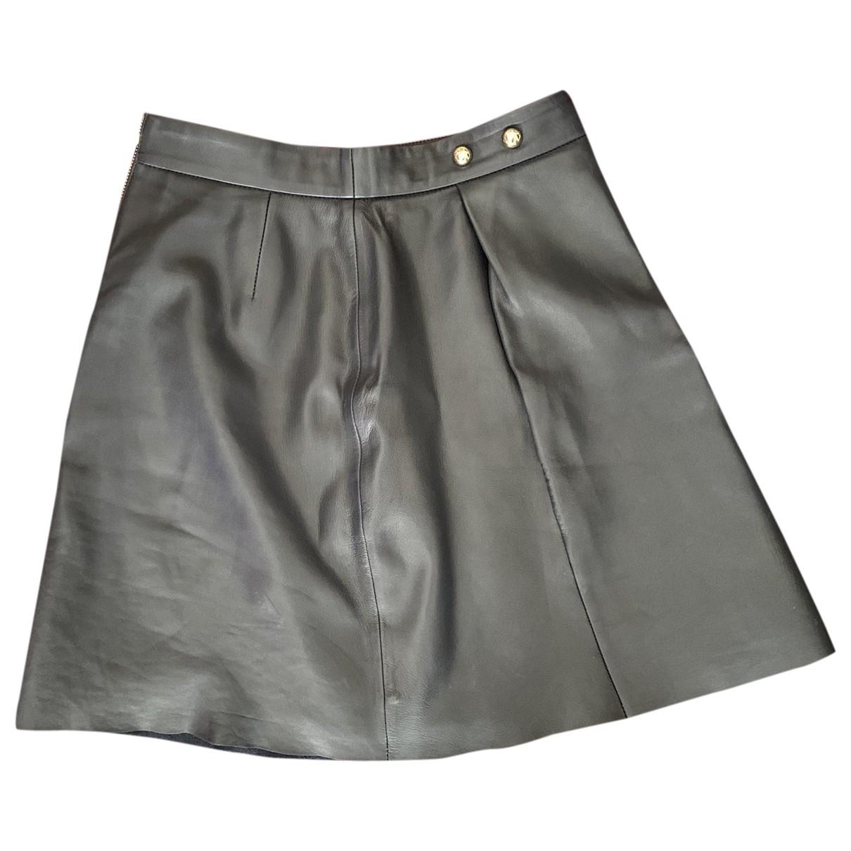 Pablo \N Black Leather skirt for Women 34 FR
