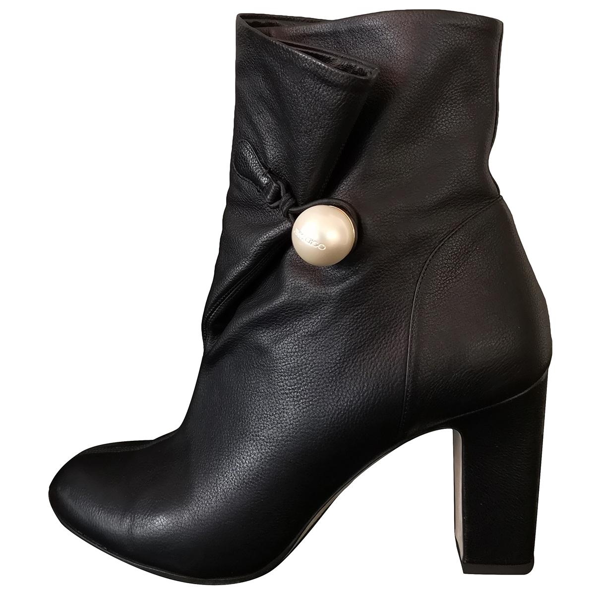 Jimmy Choo - Boots Bethanie pour femme en cuir - noir