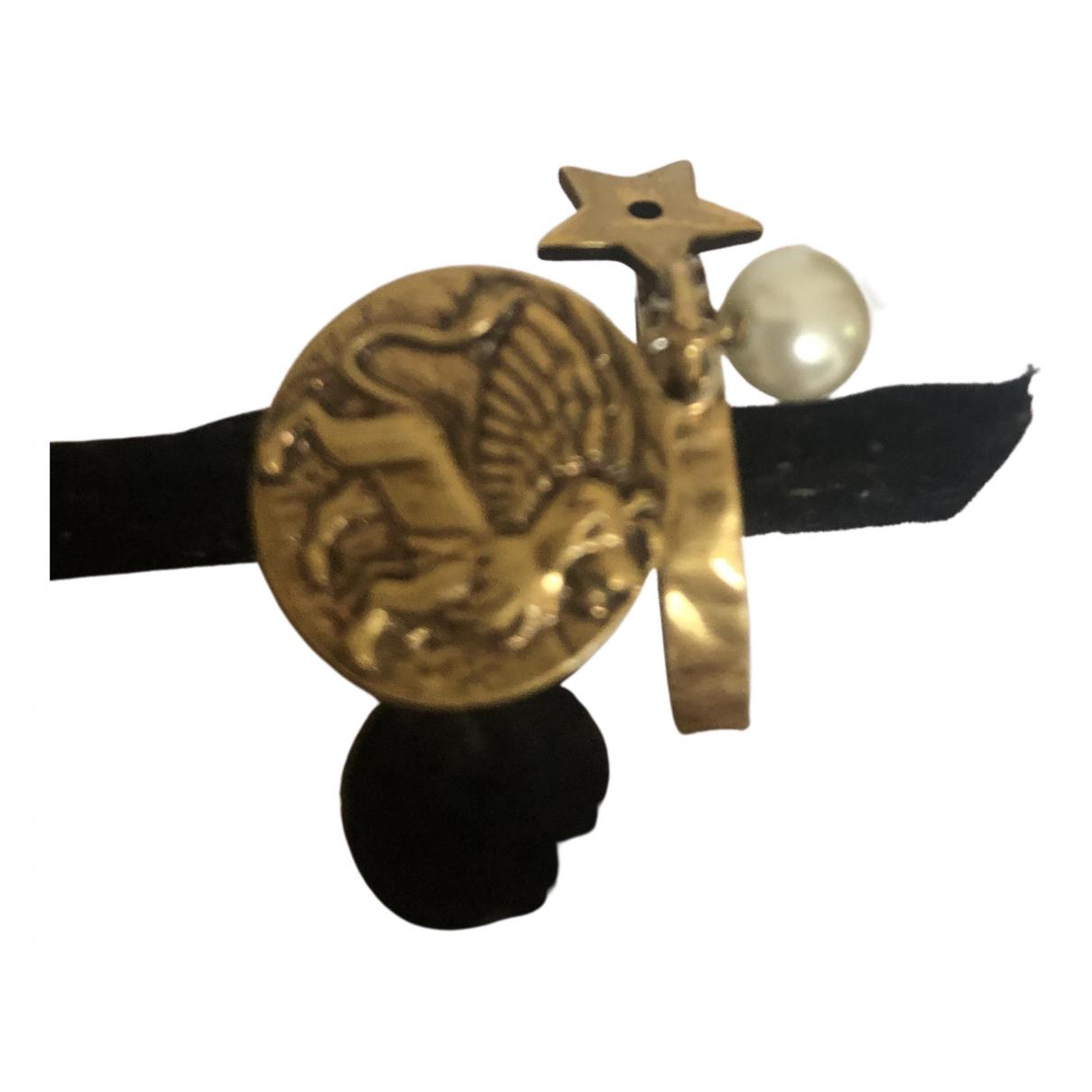Dior - Bague Monogramme pour femme en metal - dore