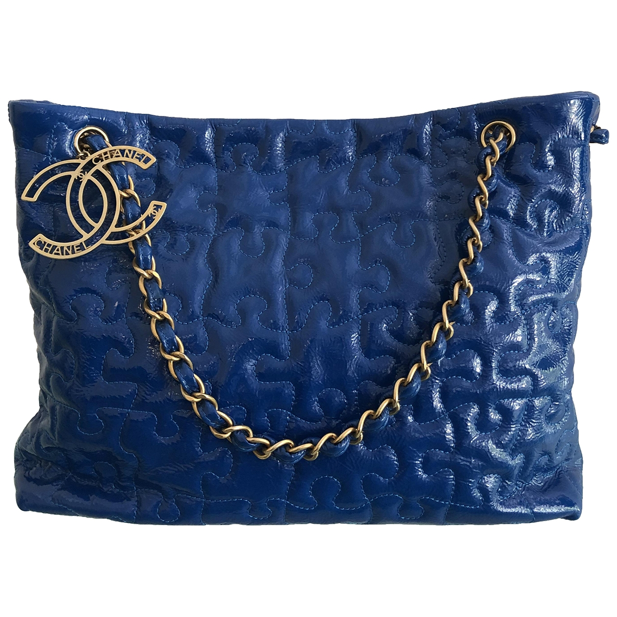 Chanel \N Blue Patent leather handbag for Women \N