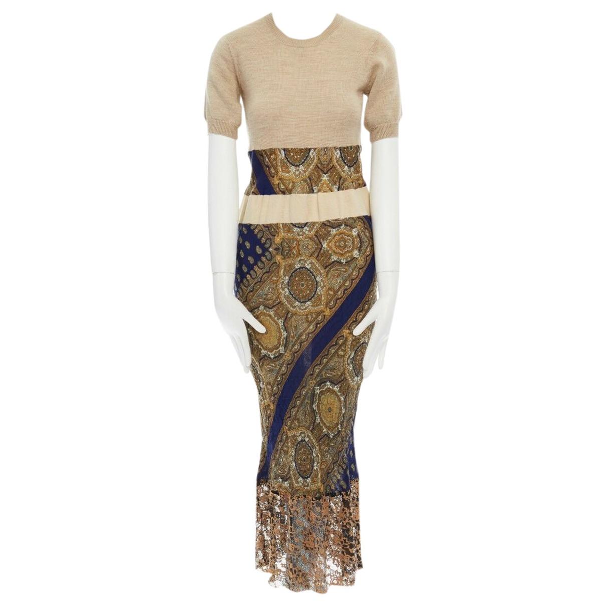 Comme Des Garcons - Robe   pour femme en coton - elasthane - beige