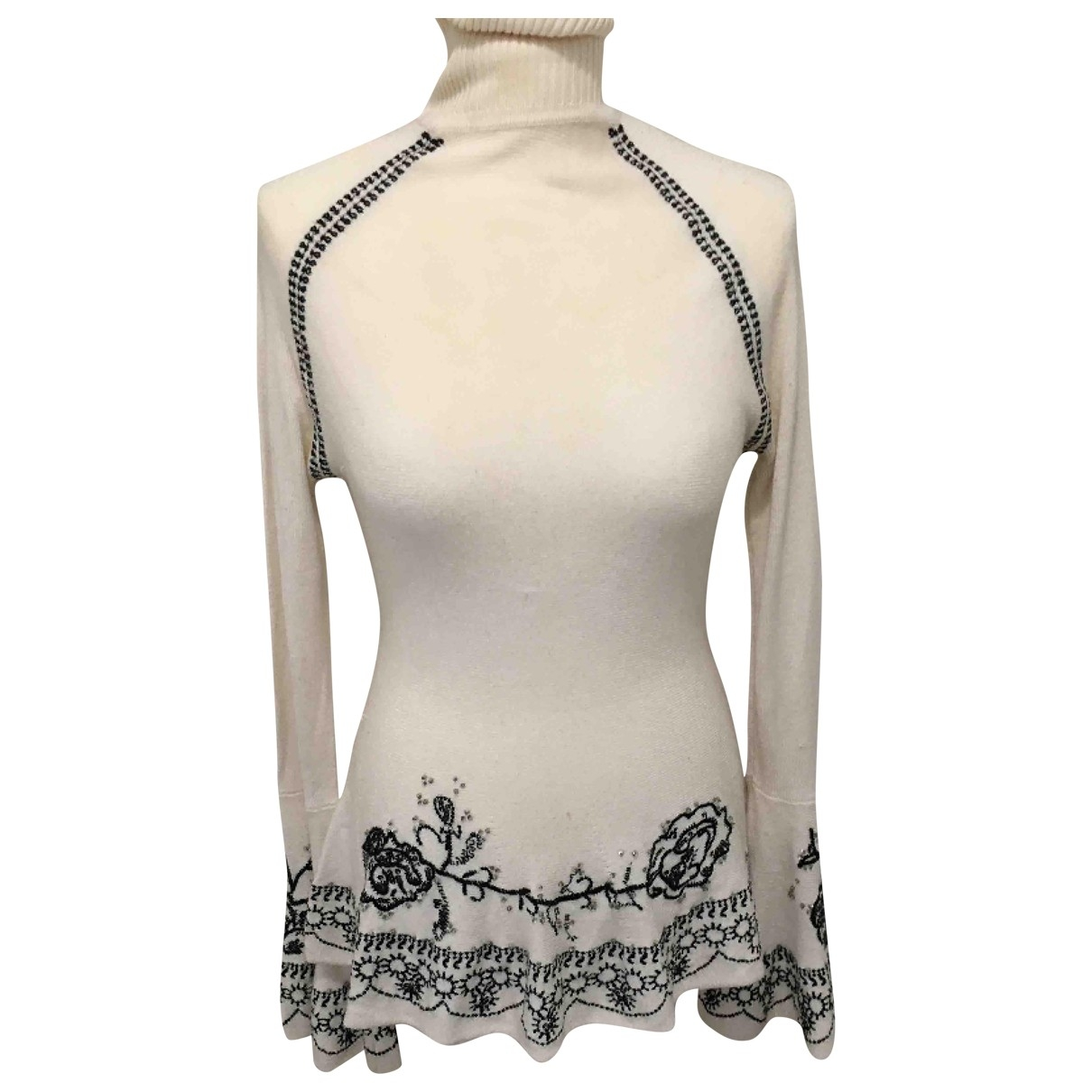 Non Signé / Unsigned \N White Knitwear for Women 36 FR