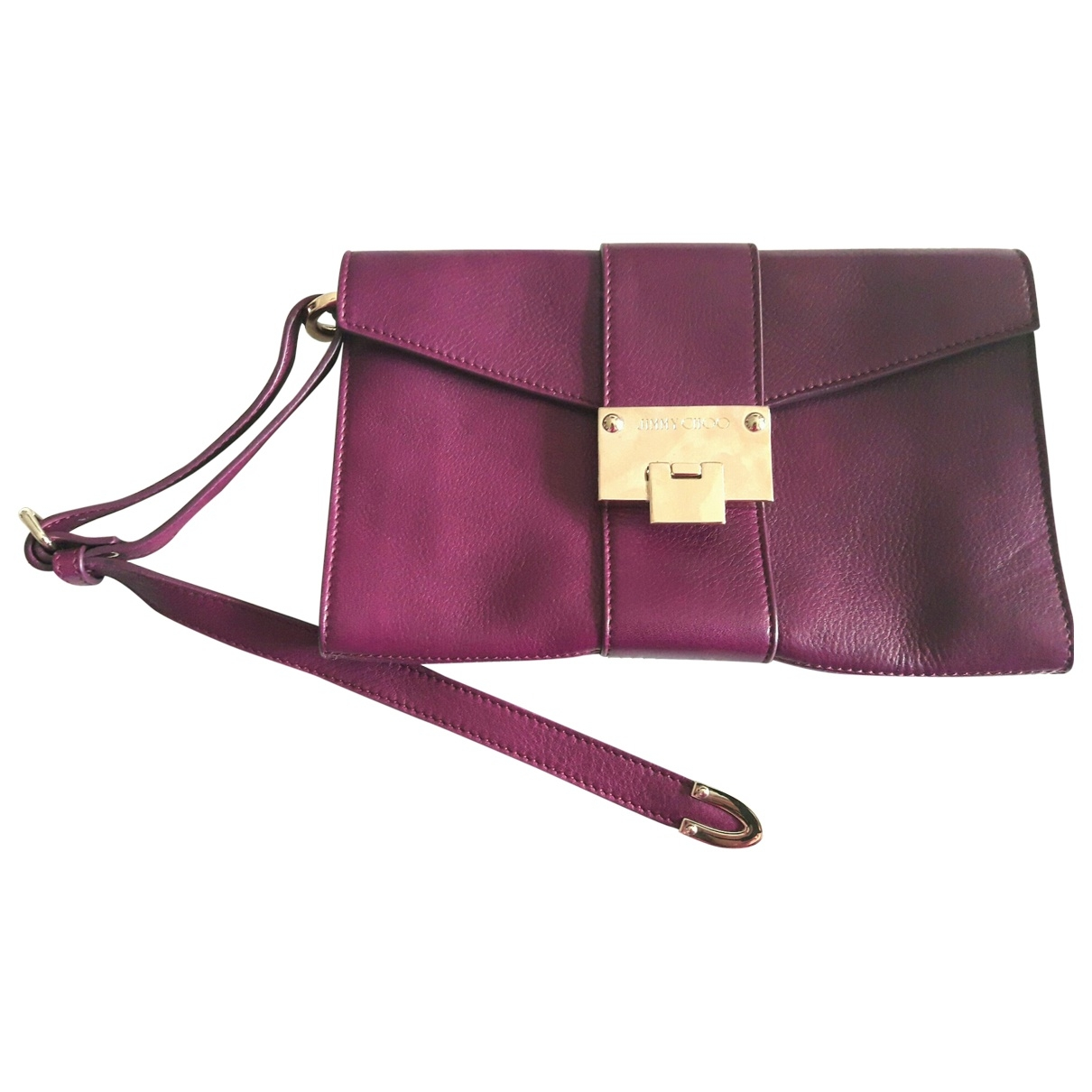 Jimmy Choo \N Purple Leather Clutch bag for Women \N