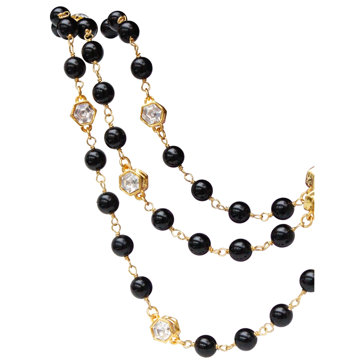 Chanel \N Black Pearls Long necklace for Women \N
