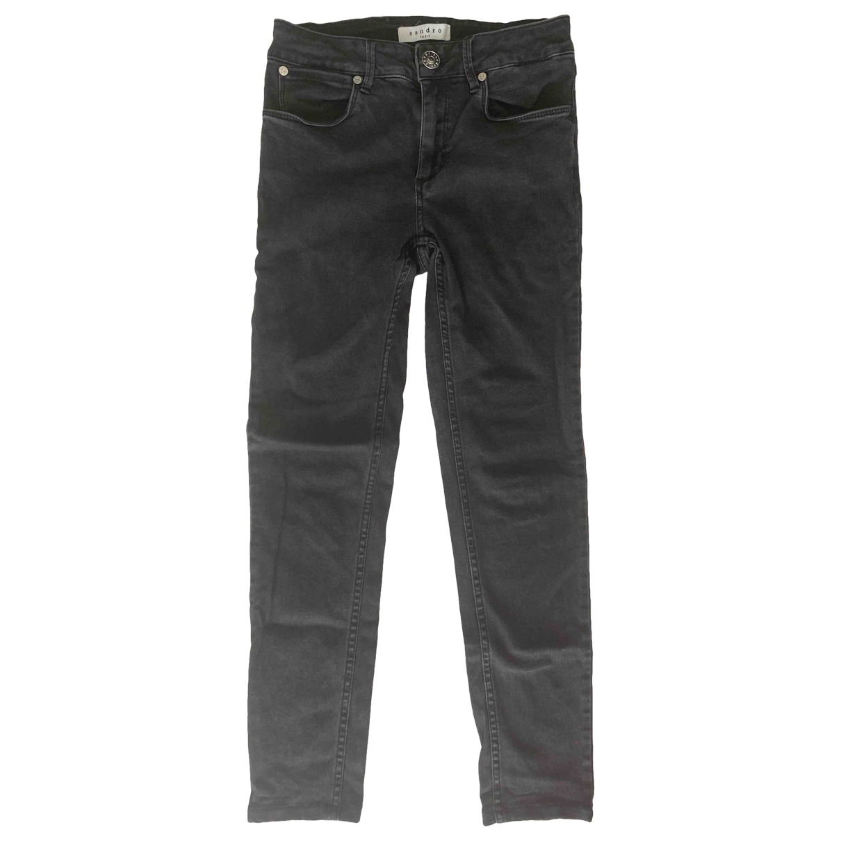 Sandro \N Grey Cotton - elasthane Jeans for Women 34 FR