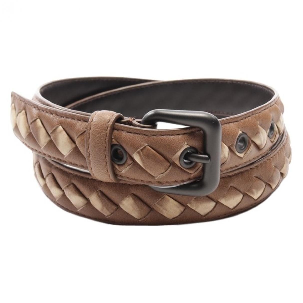 Bottega Veneta \N Brown Leather belt for Women 85 cm