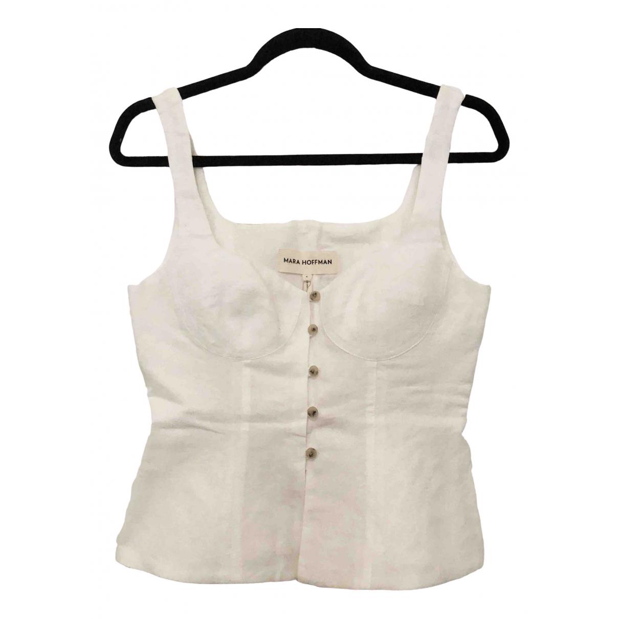 Mara Hoffman - Top   pour femme en lin - blanc