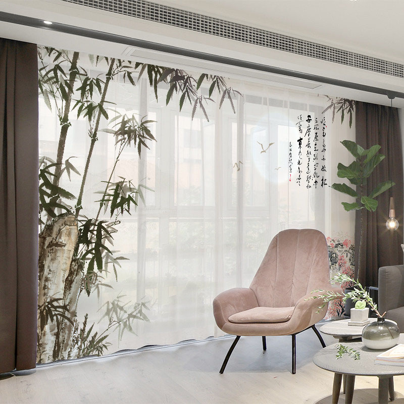 3D Personal Picture Customization Creative 2 Panels Sheer Curtains