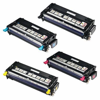 Dell 310-8092 310-8094 310-8096 310-8098 Toner Cartridge Combo High Yield
