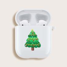 Funda de airpods con arbol de navidad