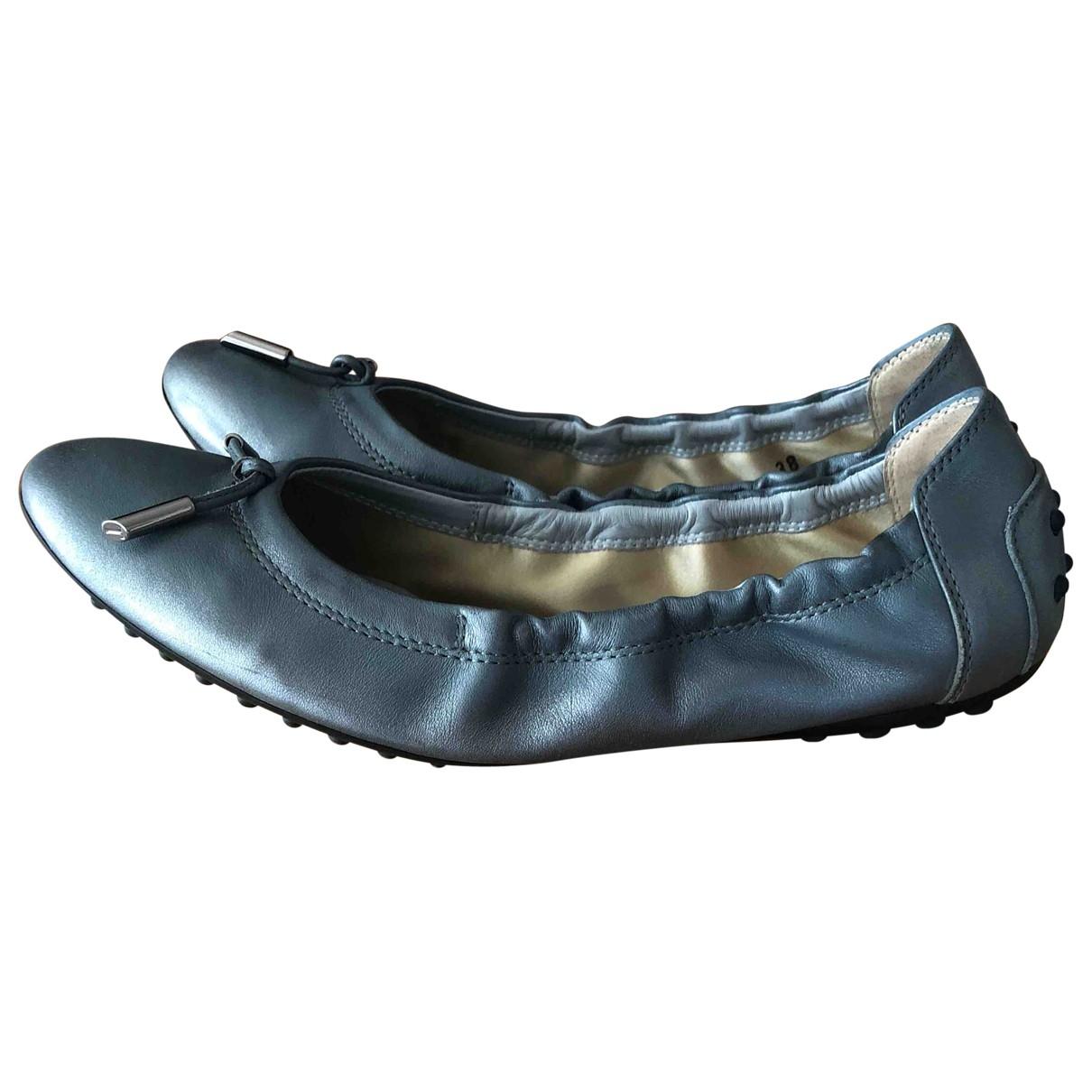 Tod's \N Metallic Leather Ballet flats for Women 38 IT