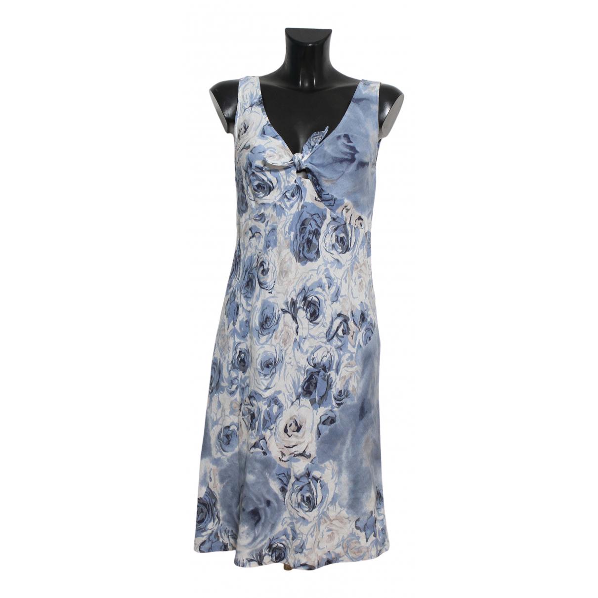Gerard Darel - Robe   pour femme en lin - bleu