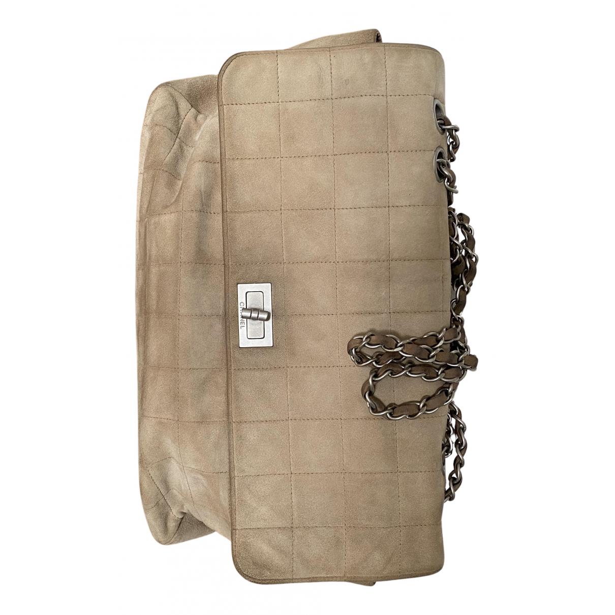 Chanel 2.55 Handtasche in  Beige Veloursleder