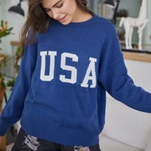 Letter Graphic Sweater