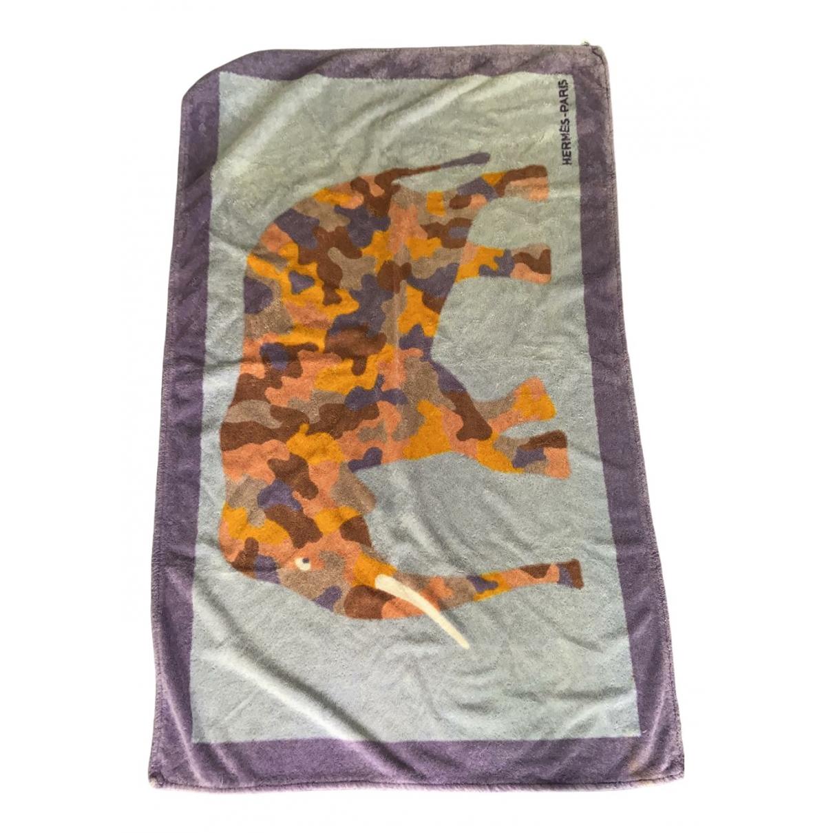 Hermes - Linge de maison Les Leopards pour lifestyle en coton - violet
