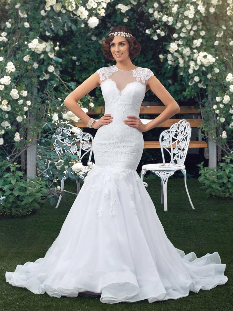 Ericdress Cap Sleeve Lace Mermaid Wedding Dress
