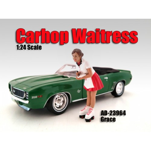 Carhop Waitress Grace Figure For 124 Scale Models by American Diorama