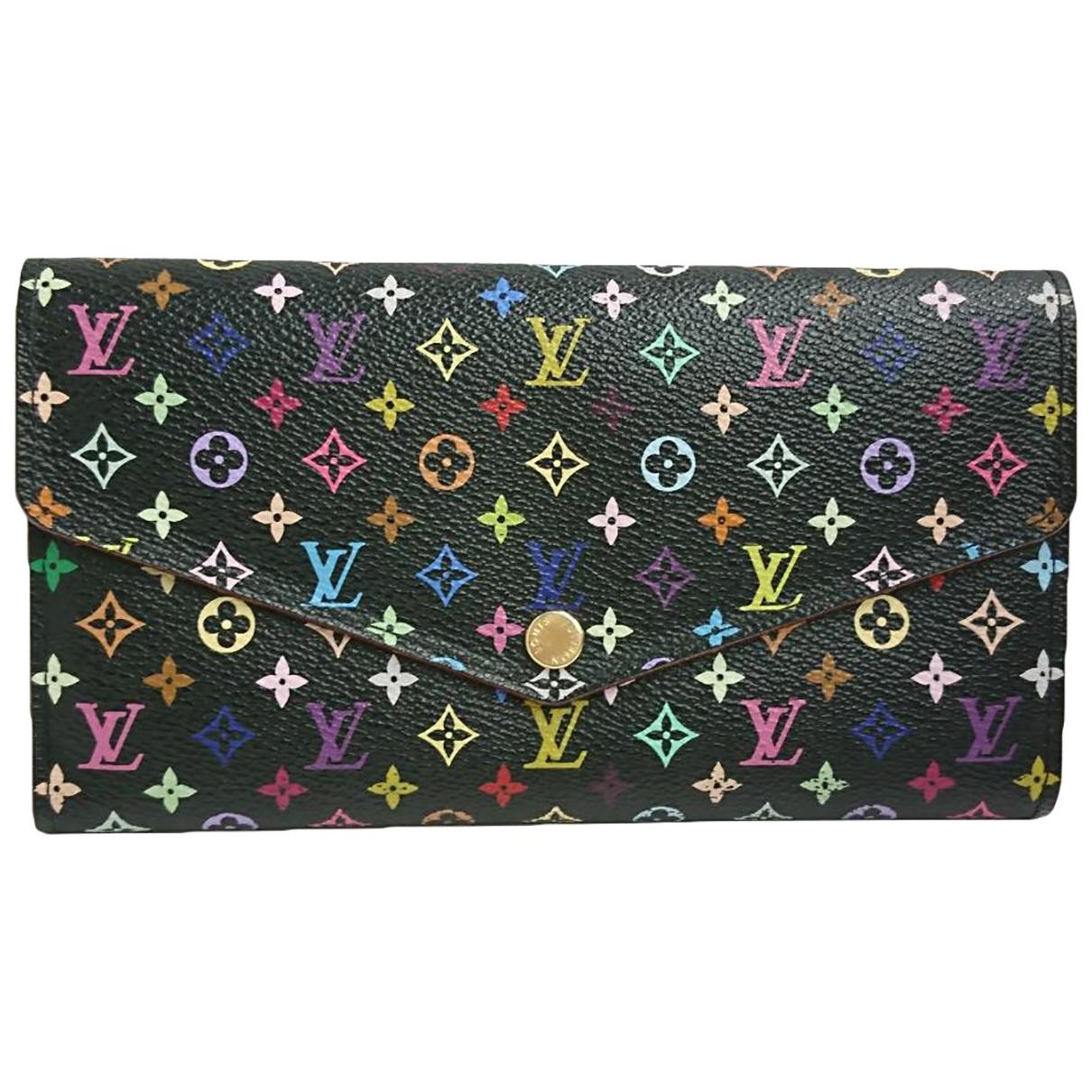 Louis Vuitton - Portefeuille Sarah pour femme en toile - noir