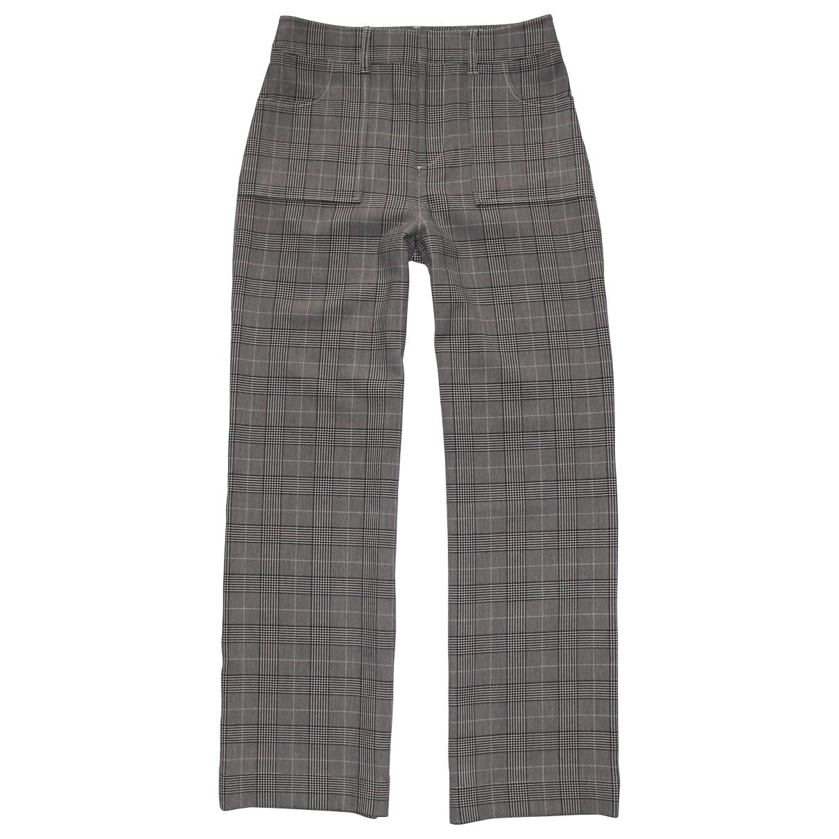Ganni \N Grey Trousers for Women 38 FR