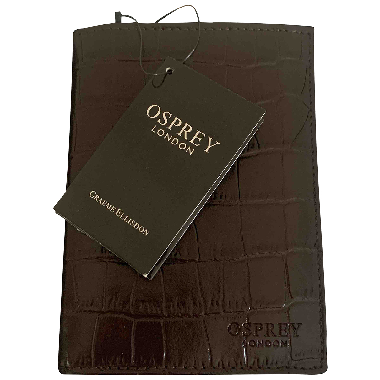 Osprey N Brown Leather Small bag, wallet & cases for Men N