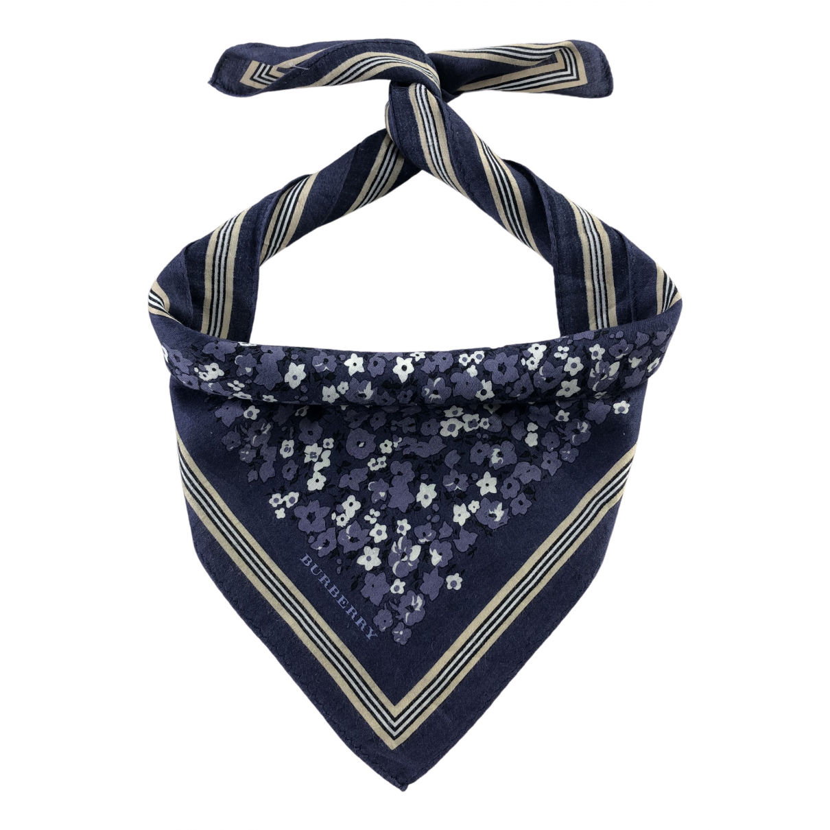 Burberry - Carre   pour femme en coton - bleu