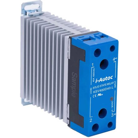 i-Autoc KSV Series , 230V ac Solid State Relay, DIN Rail or Panel