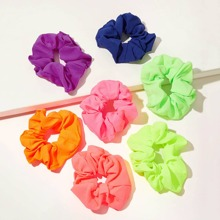 Goma de pelo neon simple 7 piezas