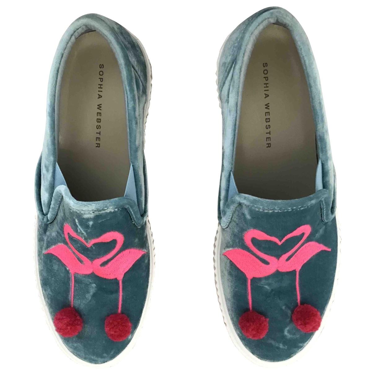 Sophia Webster \N Grey Velvet Lace ups for Women 39.5 EU