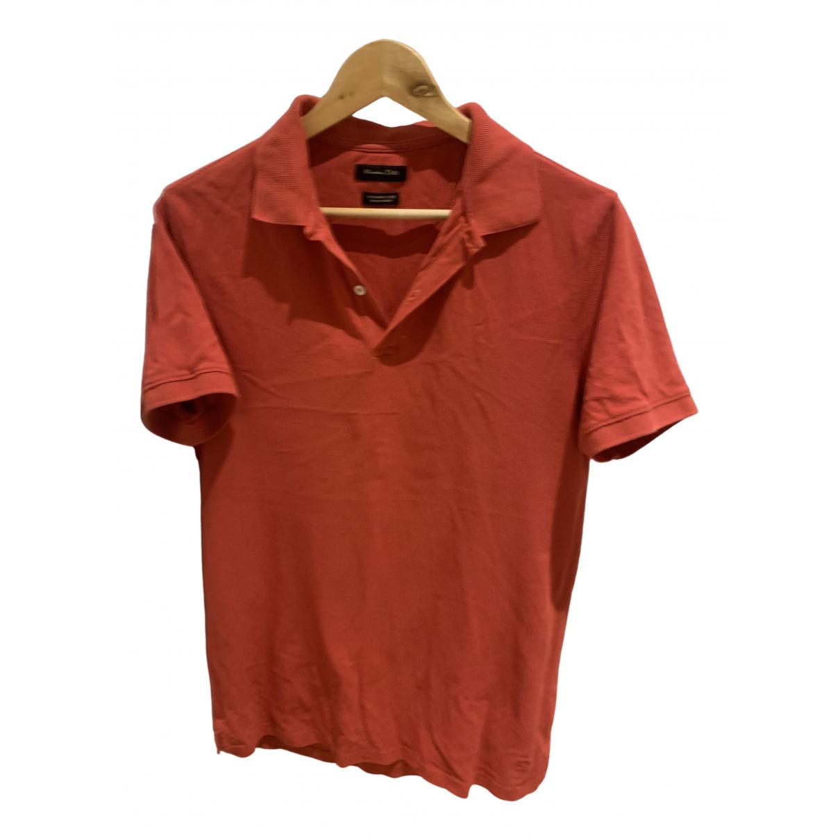 Massimo Dutti - Polos   pour homme en coton - rouge