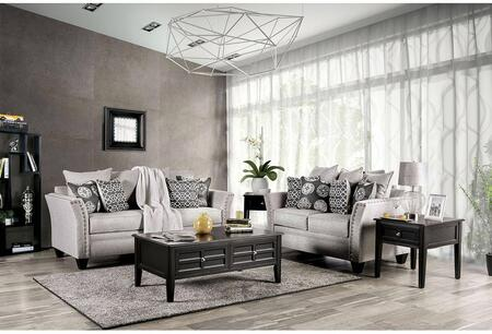 Talgarth Collection SM6221SFSET 2 PC Living Room Set with 85 Sofa and 63 Loveseat in Grey