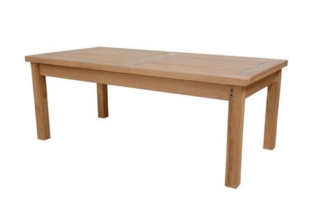South Bay DS-3014 47 Rectangular Coffee Table with Teak Wood Construction and Water-Base