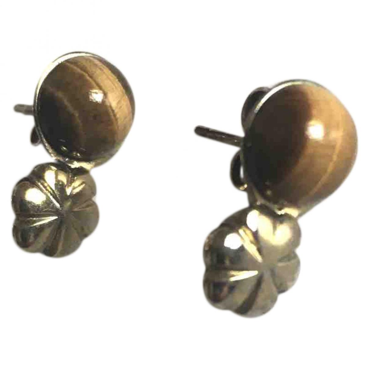 Helena Rhoner \N Gold Metal Earrings for Women \N