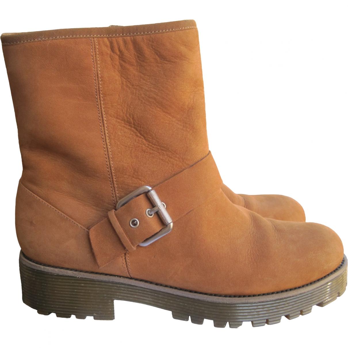 Kurt Geiger \N Camel Suede Ankle boots for Women 38 EU