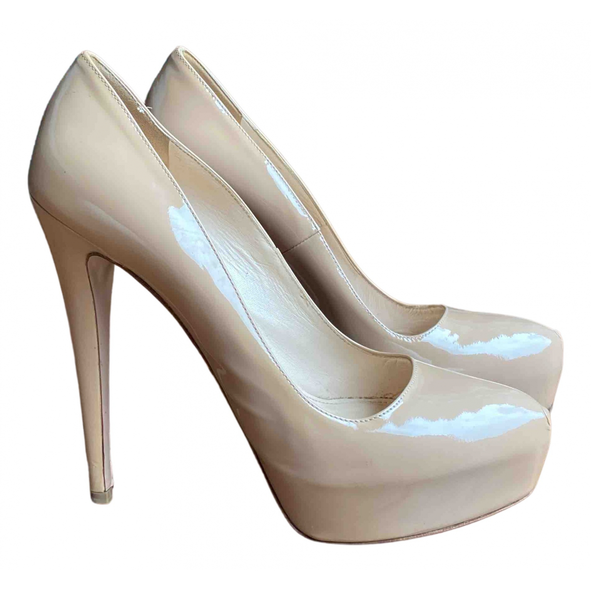 Prada \N Pumps in  Beige Leder