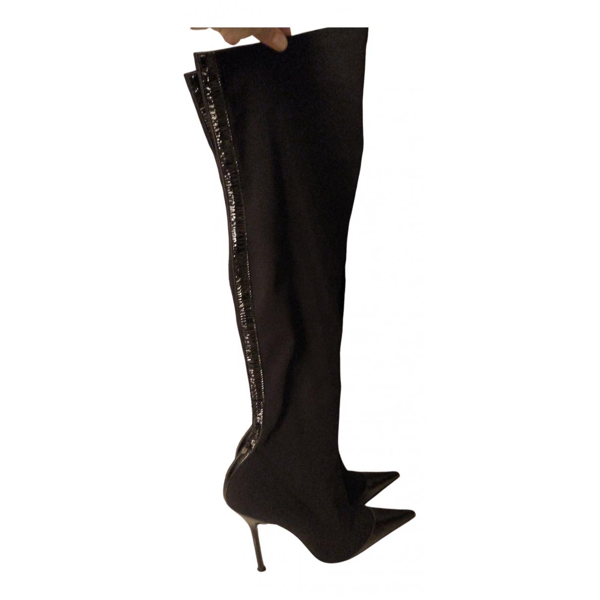 Versace \N Stiefel in  Schwarz Lackleder