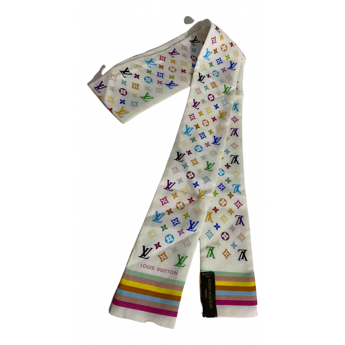Louis Vuitton N White Silk scarf for Women N