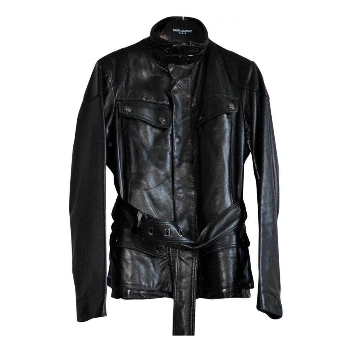 Ralph Lauren - Blouson   pour femme en cuir - noir