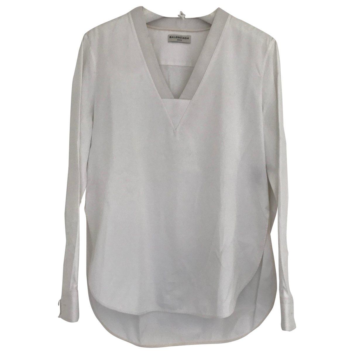 Balenciaga \N White Cotton  top for Women 40 FR