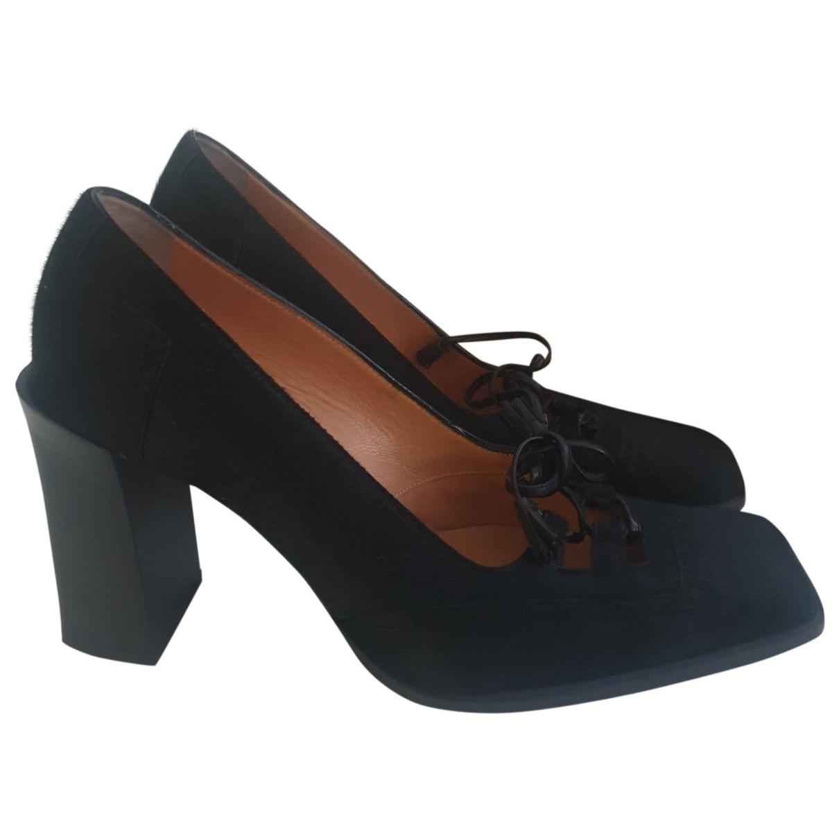 Hermès \N Black Suede Heels for Women 38 EU