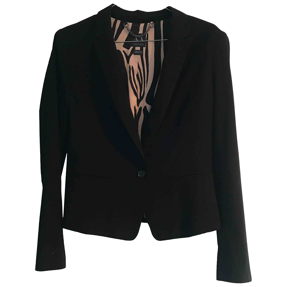 Emporio Armani \N Black Wool jacket for Women 10 UK