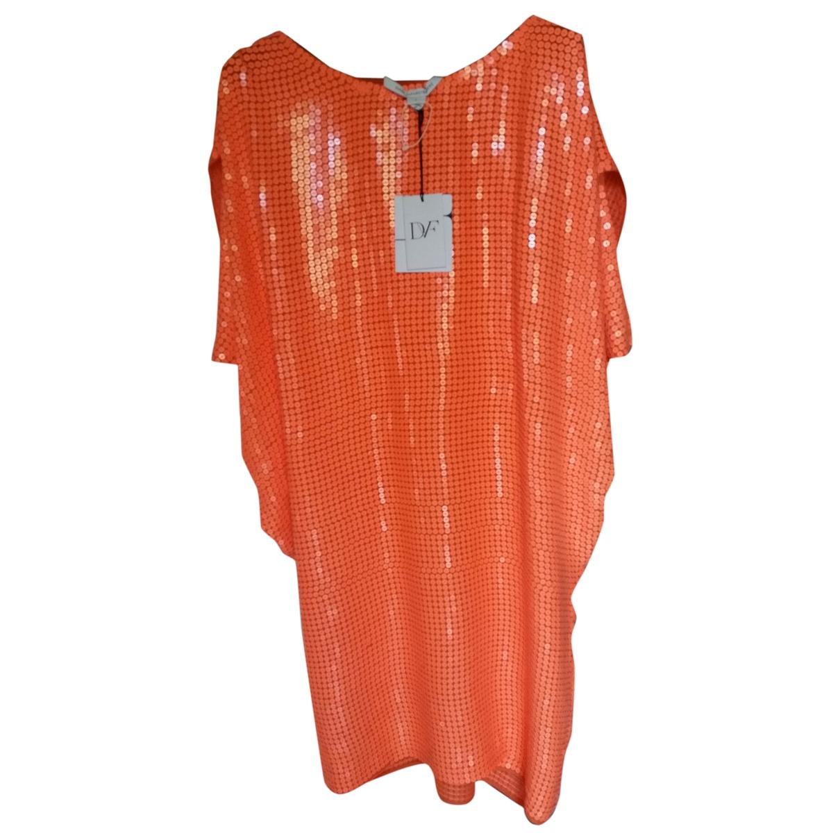 Diane Von Furstenberg \N Orange Silk dress for Women 6 US